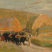 Oxen with a Wagon