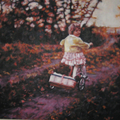Girl on Tricycle