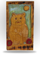 Untitled - Folk Art Kitty