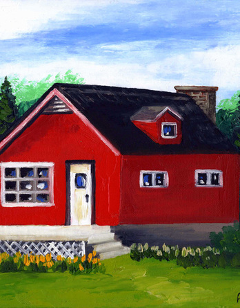 Little Red Cottage in the Woods - Image 1