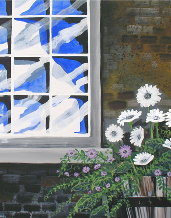 Window and Flowers - Image 1
