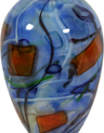 Location Stories Bottle - Blue with Orange Squares - Image 1